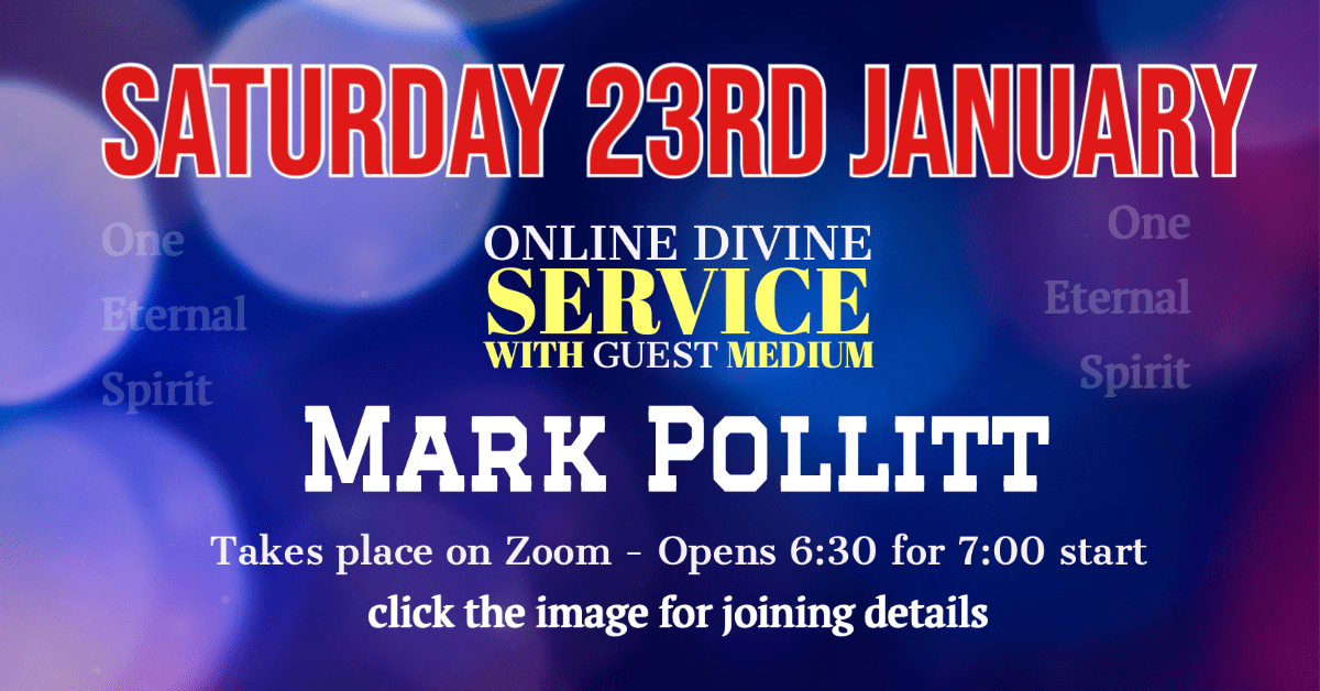 Mark Pollitt Divine Service and Demonstration of Mediumship