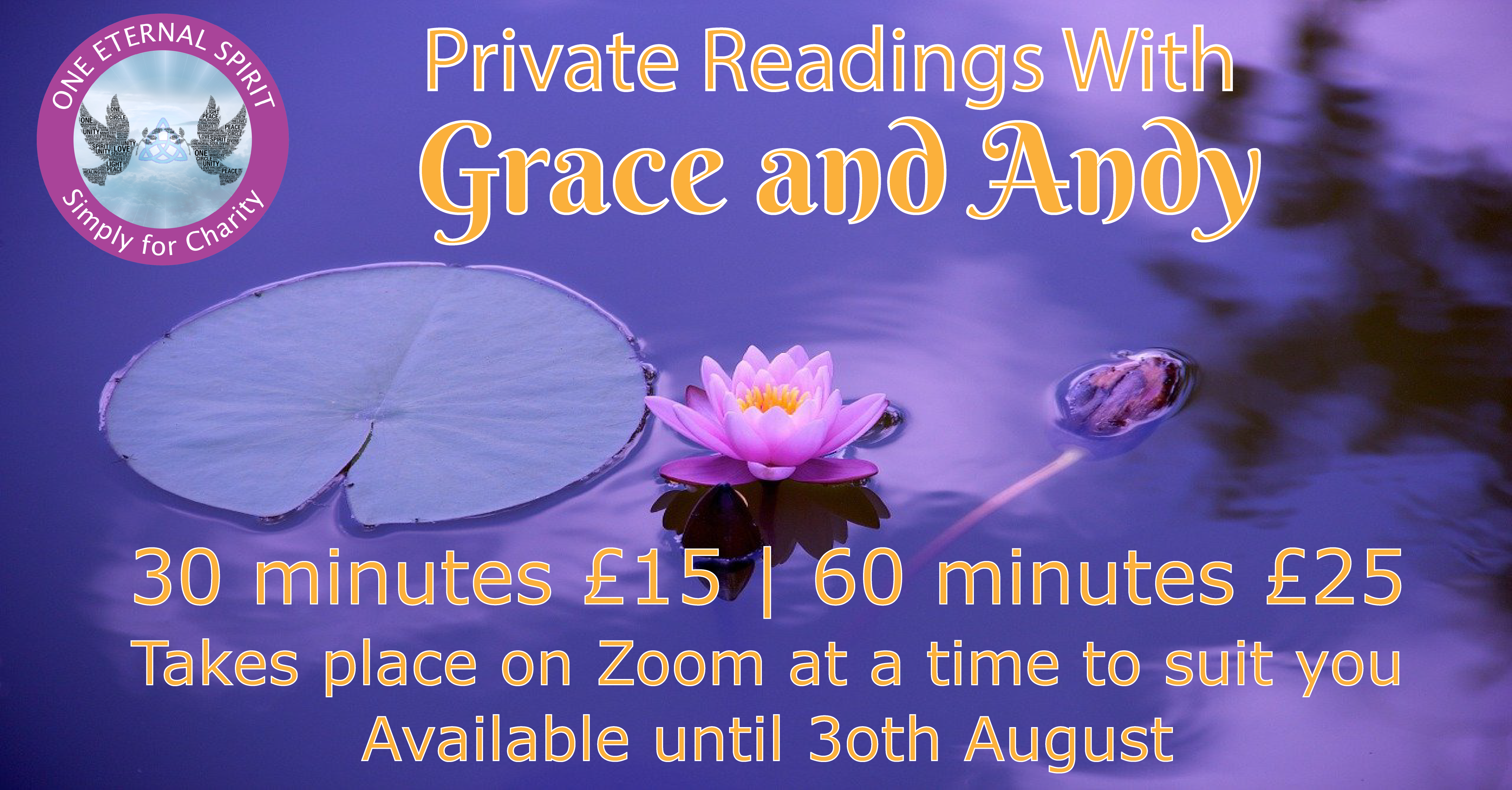 Private Readingwith Grace and Andy Simply For Charity